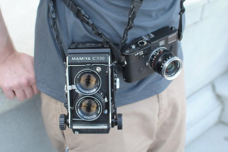 Me, Mamiya C330f, Leica M6TTL, Biogon 35 F2