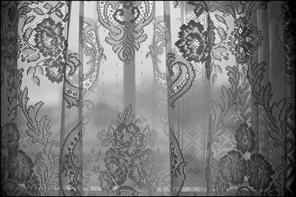 a lace curtain in iowa