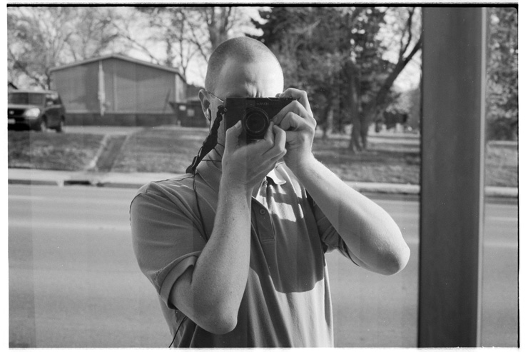 baldy self portrait