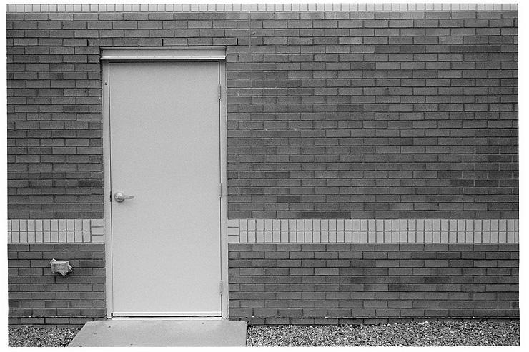 Wall, Door & Stripe, Hexar RF, ZM Biogon 35, Delta 400