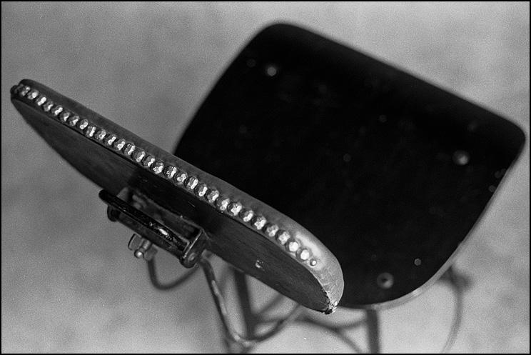 Kate's Chair #1, Olympus OM-1, 50mm 1.8, HP5 @ 250, Tmax Dev